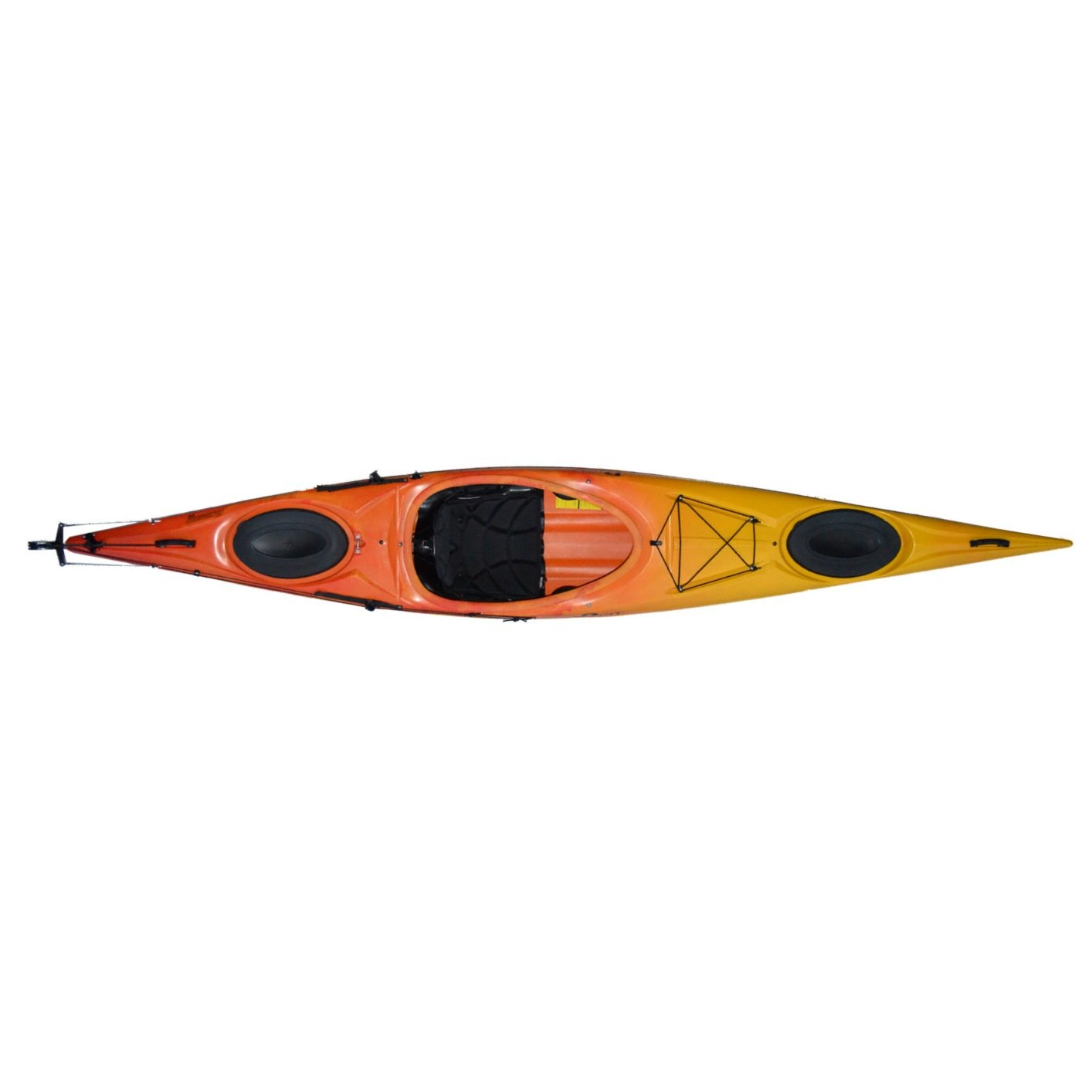 Riot Kayaks Enduro 14 HV Flatwater Day Touring Kayak (Yellow/Orange, 14-Feet) by Riot Kayaks