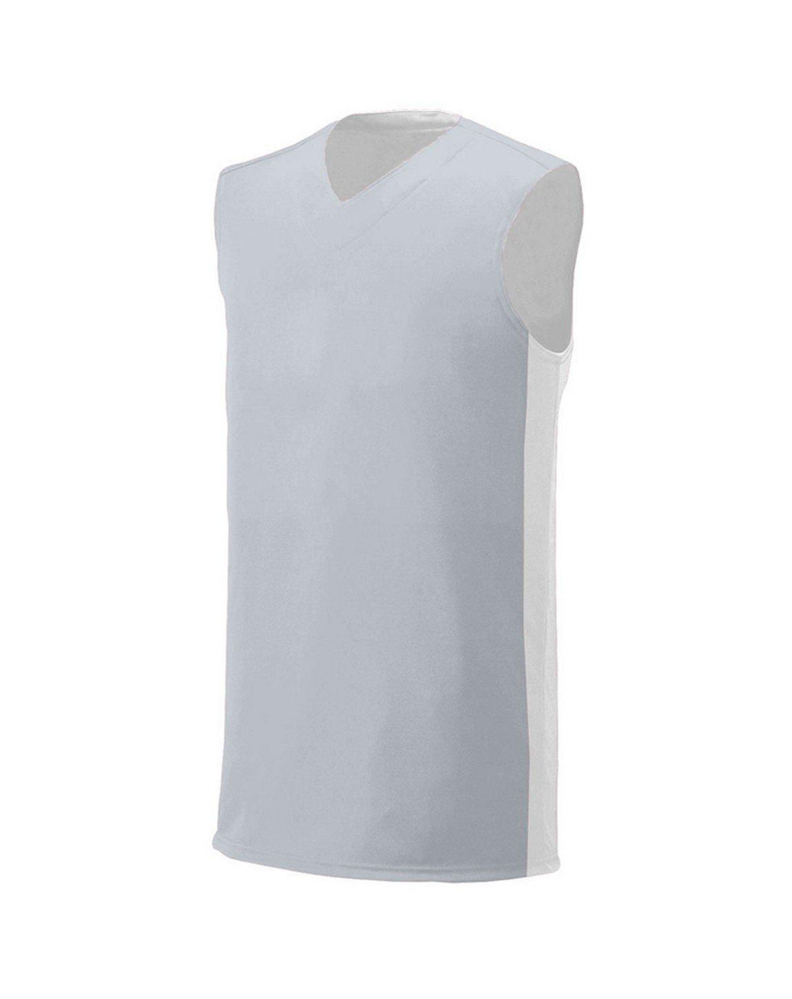 A4 Boy's Reversible Moisture Management Muscle Silver/White