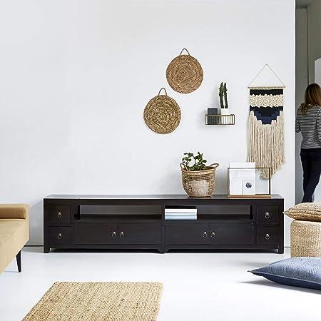 Tikamoon Madera de Caoba TV Hi-Fi Soporte Mueble cajones de Almacenamiento Sala de Estar: Amazon.es: Hogar