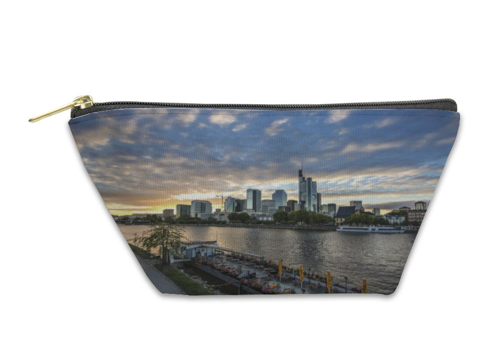 Gear New Accessory Zipper Pouch, Modern Skyline Of Frankfurt Germany Financial Business District, Small, 5983114GN