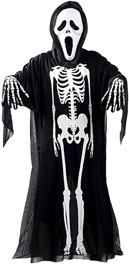 Funnyrunstore Skull Skeleton Ghost Cosplay disfraz adultos niños ...