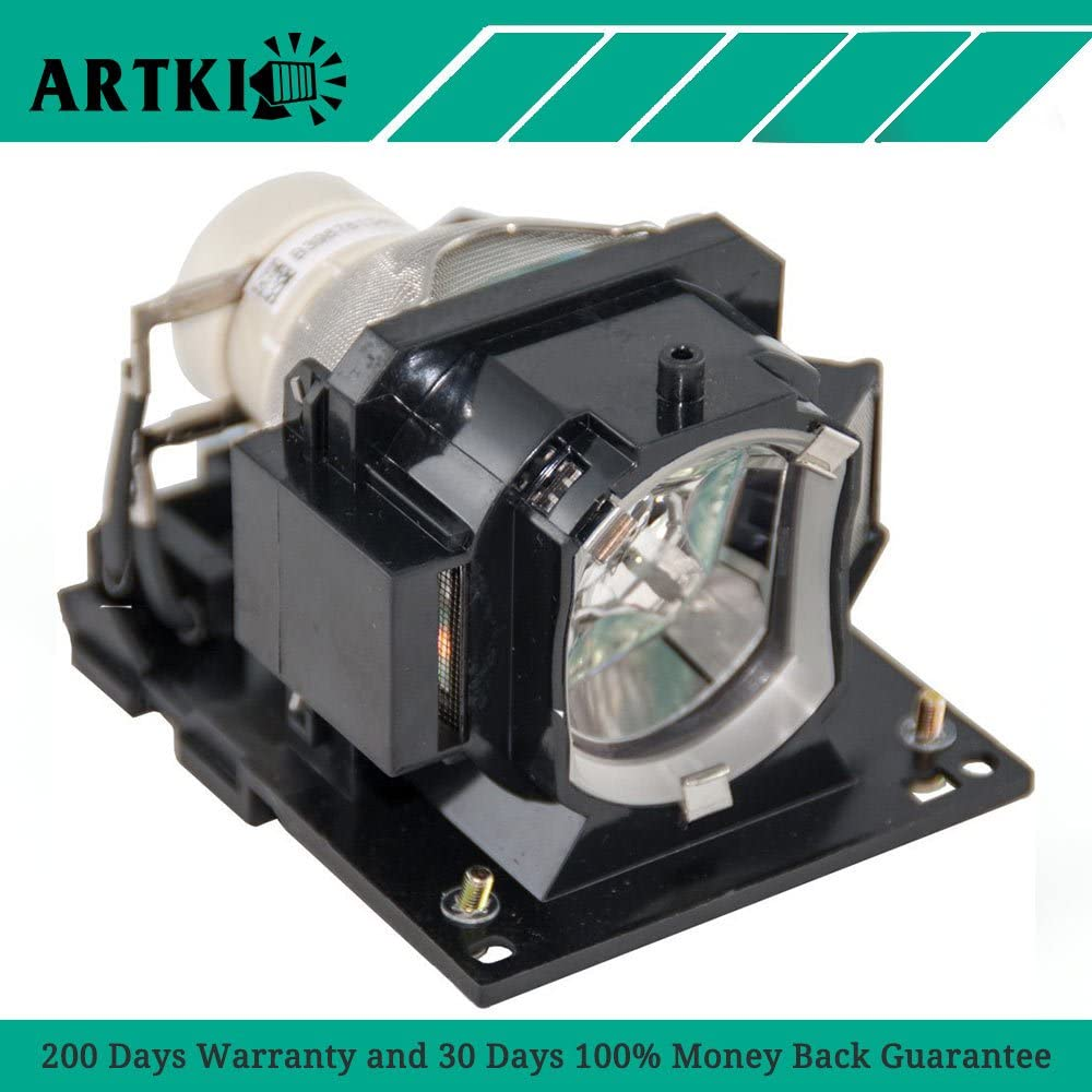 Genuine OEM Replacement Lamp for Hitachi CP-X25LWN DT01571 Projector IET Lamps with 1 Year Warranty