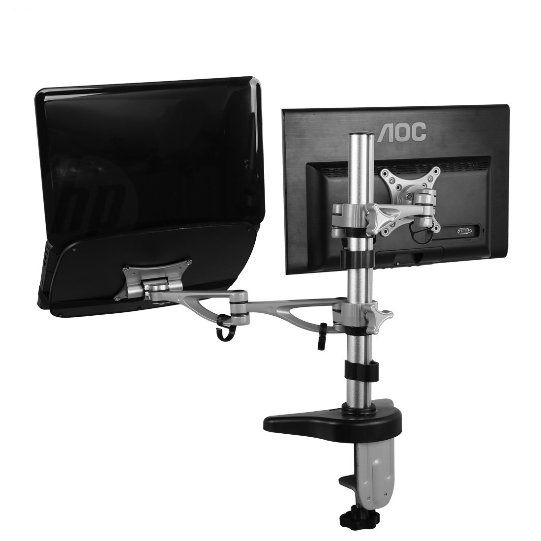 FLEXIMOUNTS Full Motion Dual Arms Desk Mount MSI Dell Asus Acer Samsung Notebook LCD Monitor (M14)