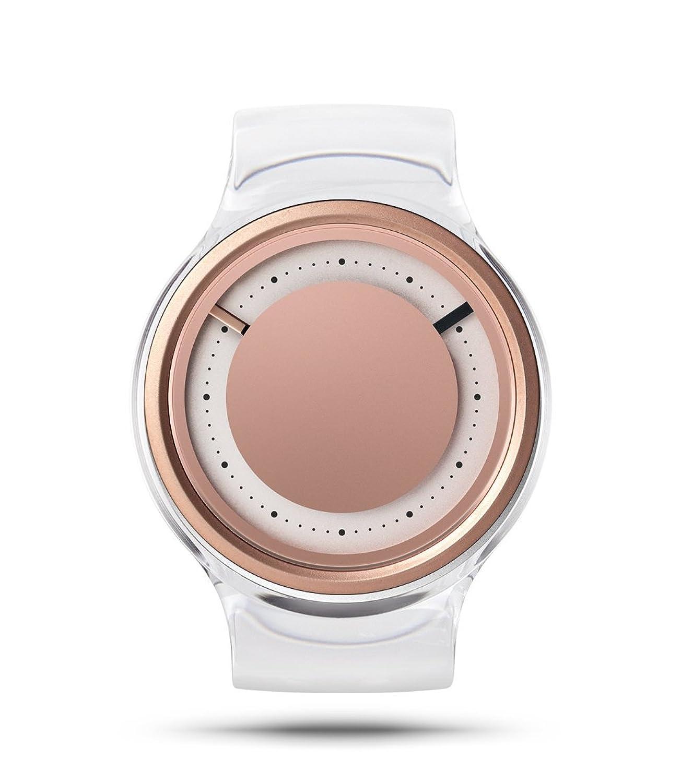 ZIIIRO EON Rose Gold Rosegold Damenuhr mit Acrylreif austauschbares Armband