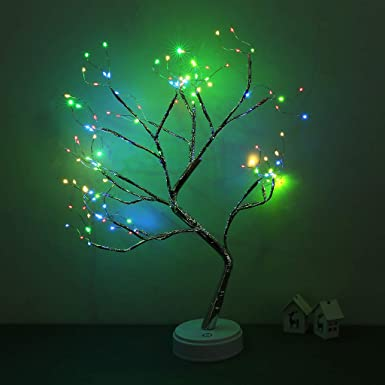 Amazon.com: 𝓎𝑜𝓊𝓊𝓁 108 LED Bonsai Tree Light - USB ...