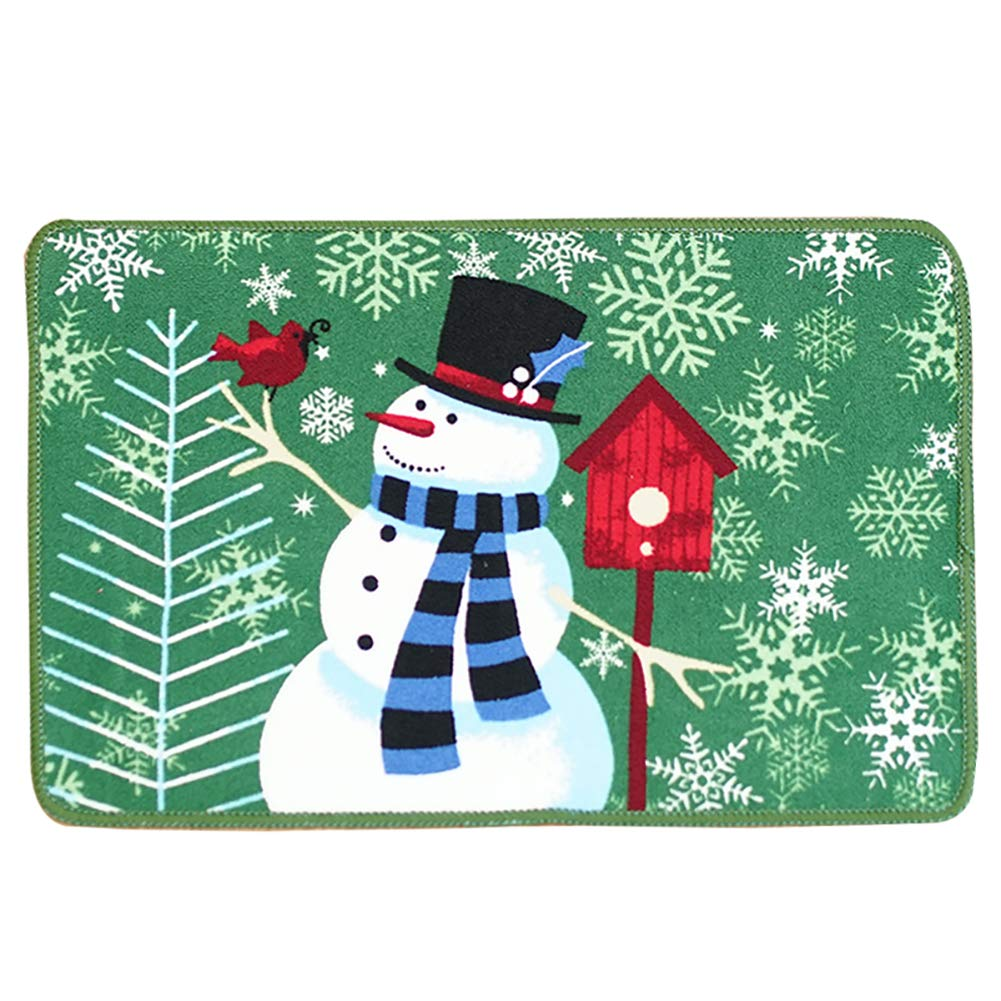 QRMH Christmas Living Room Kitchen Mats HD Printed Bathroom Non-Slip Absorbent Mats A Variety of Styles 2416In,E