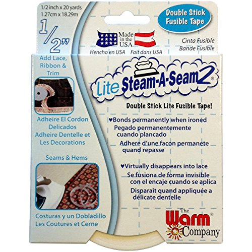 - Warm Company Lite Steam-A-Seam 2 Double Stick Fusible Web: 1/2x20 Yds