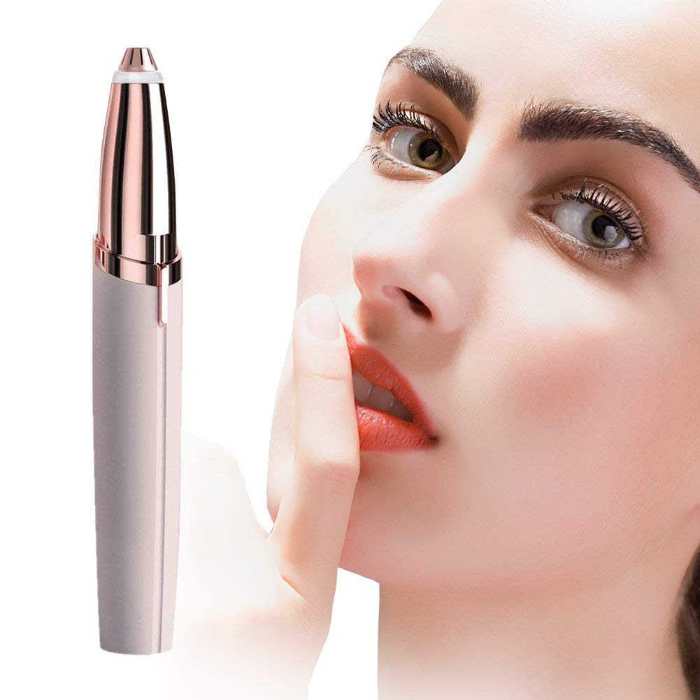 APIPIS Flaw less Brows Blush/Rose Gold for Woman -Finishing Eyebrow Hair Remover Touch As Seen on TV(Gold)