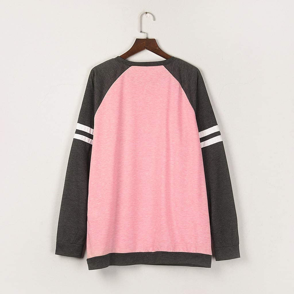 Moudozsdi Womens Tunic Tops Long Sleeve Round Neck Front Pocket Casual Shirt Blouse