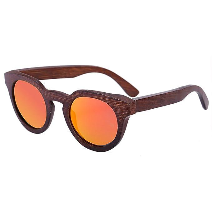 Gafas De Sol Polarizadas De Madera Gafas De Bambú De Ojo De Gato De Moda Gafas De Sol Retro,Red: Amazon.es: Jardín