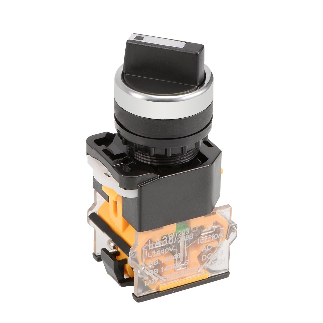 uxcell a14112200ux0184 ZB2-BE101C NO SPST 2 Positions Maintained Rotary Select Selector Switch 600V 10A