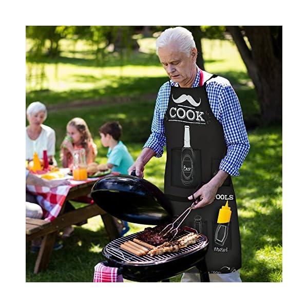 The Man Grembiule, qualità Premium - Grembiuli da Barbecue, con Tasche per i Condimenti Necessari per Quel Barbecue… 2 spesavip