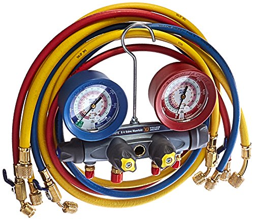 Yellow Jacket 46013 Brute II Test and Charging Manifold, F/C, Red/Blue Gauge, psi, R-22/404A/410A