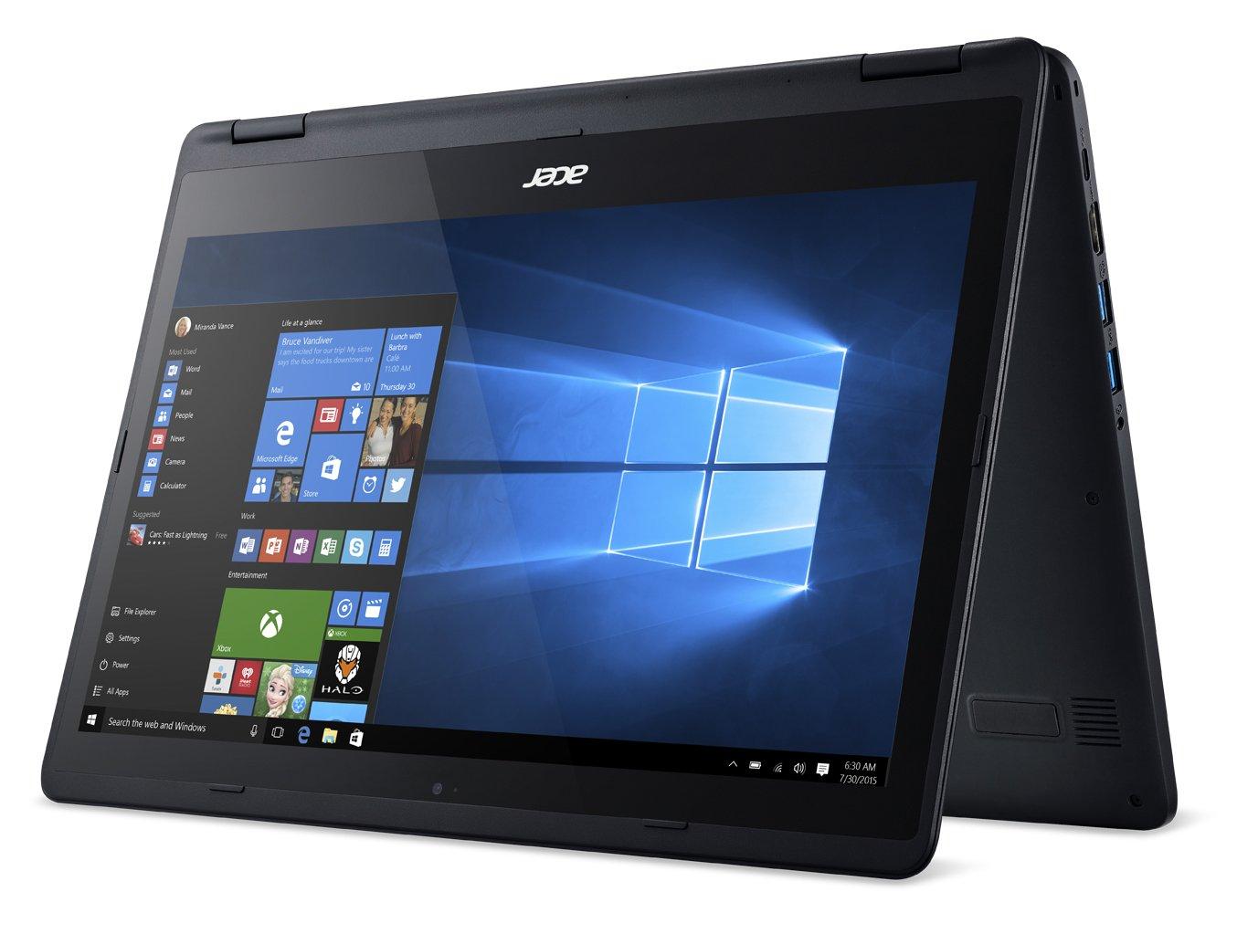 acer aspire 14 touchscreen notebook 8gb ram 256gb ssd intel i5 2 3ghz black ebay. Black Bedroom Furniture Sets. Home Design Ideas