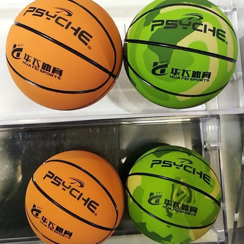 2,4 Pouces Boule De Stress Sportif D/écoration De Bureau /Élastique Camouflage Balle Creuse Basket-Ball Jouets pour La Formation De Loisirs Et De Divertissement courti Mini Basket-Ball en Caoutchouc
