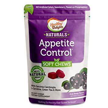 Healthy Delights Naturals Appetite Control Soft Chews Garcinia Cambogia L Carnitine Green