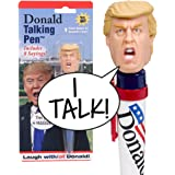 Donald Talking Pen - 8 Different Sayings - Trump's REAL VOICE - Just Click and Listen - Funny Gifts for Trump & Hillary Fans - Superior Audio Quality -Replaceable Batteries Included - Trump Pen