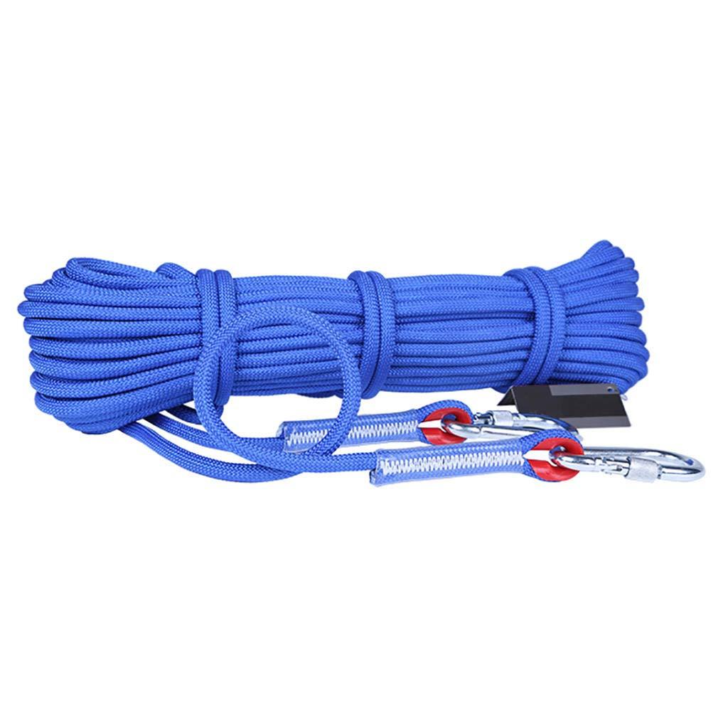 Bule MODKOY Corde d'escalade, 6mm, 8mm, 9.5mm, 12mm Diamètre Randonnée Extérieure Corde de sécurité Haute résistance Corde 10m-100m 9.5mm - 40m