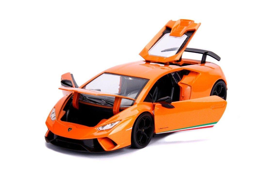 Jada 99355 MJ 1 24 Hyper Spec Lamborghini Huracan Performante Orange Die Cast Vehicle