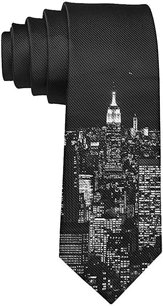 GZOSWLGS Corbata de hombre Ciudad de Nueva York Moda Corbata ...