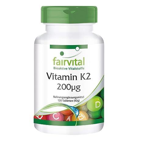 Vitamina K2 200 mcg - Bote para 4 meses - VEGANO - Alta dosificación - 120