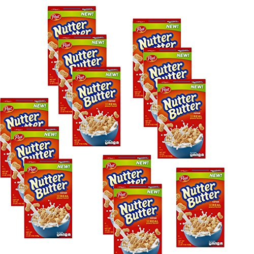 Post Nutter Butter Cereal 19oz New (12 Boxes) by Unknown