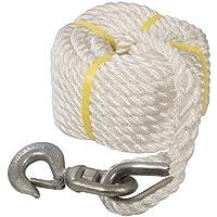 Silverline 865628 Cuerda con Gancho para Polea, 20m