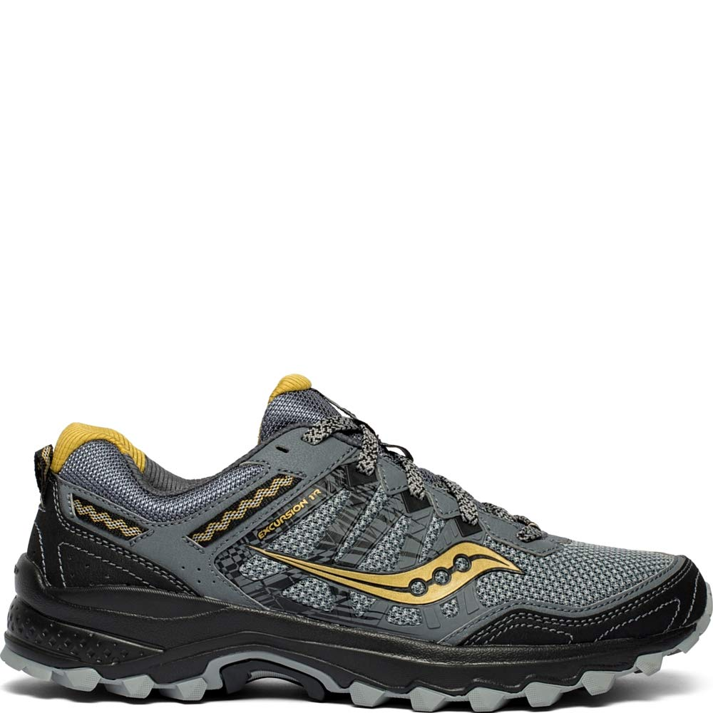 Saucony Men's Grid Excursion TR12 Trail Running Shoe, Silver/Gold, 12 M US by Saucony