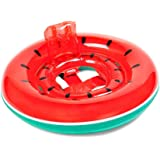 O-Toys Pool Floats for Baby Toddlers Inflatable Float Raft Water Swimming Ring Floating Boat for Kids Watermelon