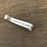 To the Moon and Back Tie Clip Husband Tie Bar For Boyfriend Valentines Day Gift Personalized Tie Clip Husband Gift Anniversary Tie Bar
