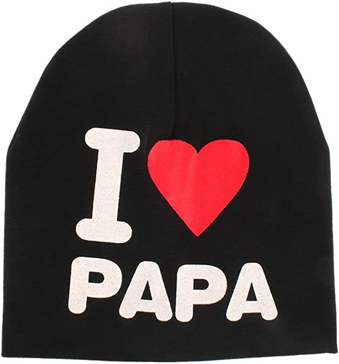 Boy Girl Toddler Kids Baby Infant Cotton Soft Beanie Hat Cap I Love Papa Mama
