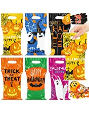 78 Pcs Halloween Trick or Treat Bags for Trick-or-Treating, Halloween Candy Party Favors for kids, Plastic Halloween Goodie Bags, Halloween Snacks, Classroom Goody Bags, Event Party Supplies