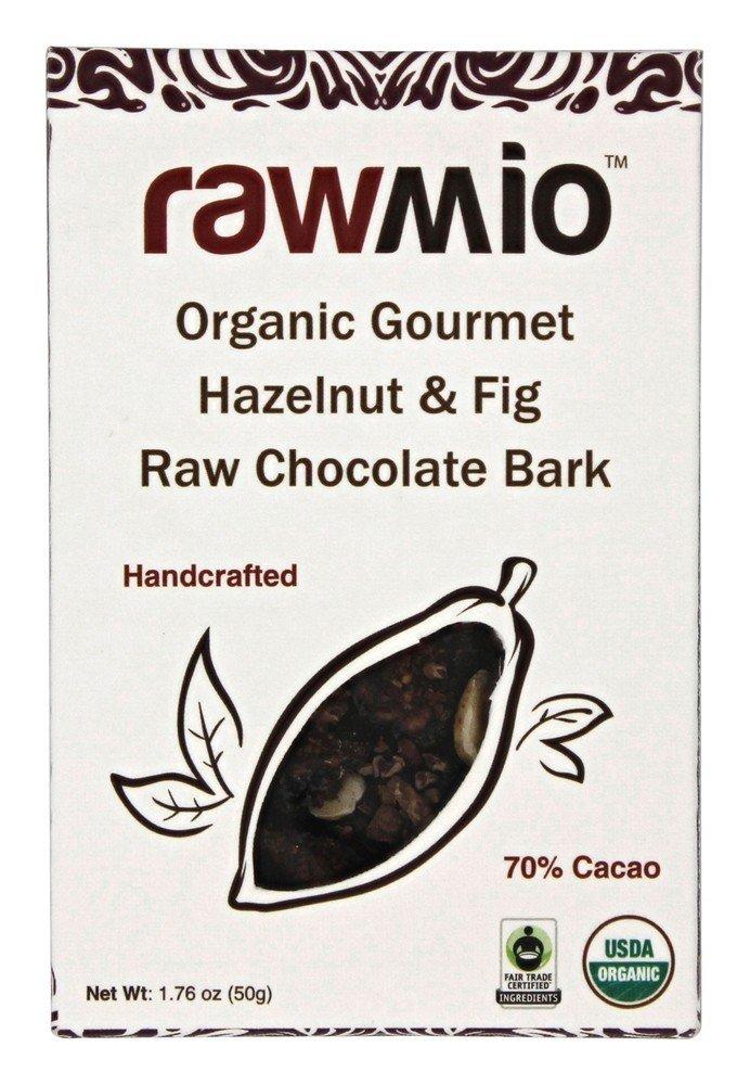 Windy City Organics Rawmio Organic Gourmet Raw Chocolate Bark Hazelnut & Fig -- 1.76 oz