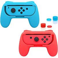 Lolo Nintendo Switch Grips para Joy Con, Kit de Empuñaduras para Mandos Joy-Con, Funda Agarres Diseño Ergonómico…