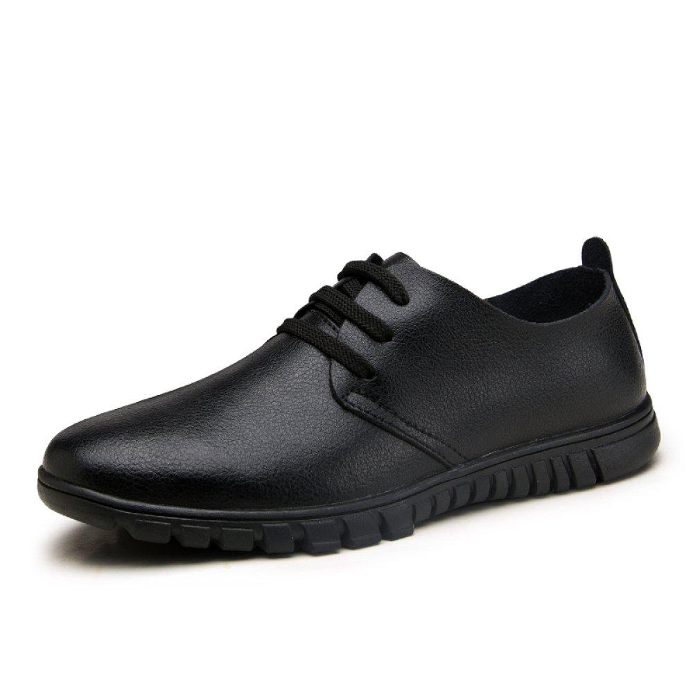 YXLONG Zapatos De Los Hombres Suaves Zapatos De Cuero Huecos Transpirables De Verano Zapatos Casuales De Negocios Zapatos De Los Hombres,Tieblack(withoutholes)-37 37 tieblack(withoutholes)