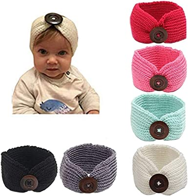 Amazon.com: G-Tree 6 unidades de diademas de punto para bebé ...