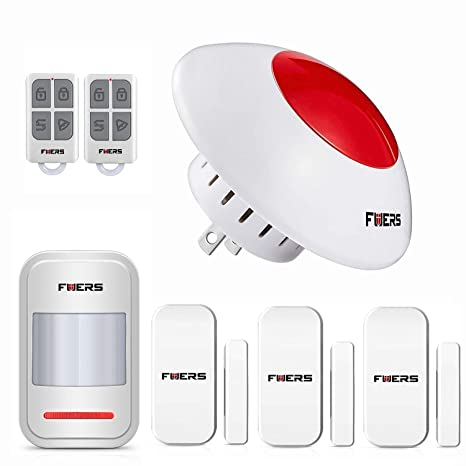 Fuers 110db Loud Standalone Indoor Strobe Flashing Siren Door and Window Spot Alarm System DIY Kit, Wireless Home Security Burglar Alarm System,Keyfob ...