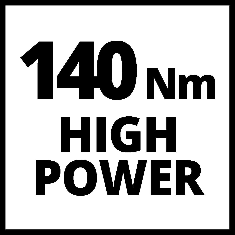 18 V, 2,0 Ah, Ladezeit: 40 min, Regime 0-2300 U//min - Version Kit LIVRE mit 1 Akku und 1 Ladeger/ät Einhell Akku-Schlagschrauber Set TE-CI 18//1 Li Power X-Change