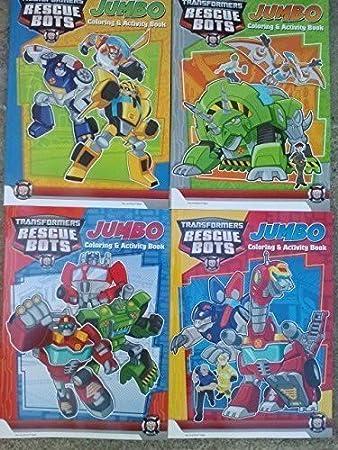 Transformers Rescue Bots Blocco Da Colorare E Attività Di Colori By
