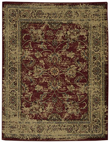 Regal Small Rug - Ottomanson Royal Collection Distressed Oriental Floral Design Area Rug, 5'3
