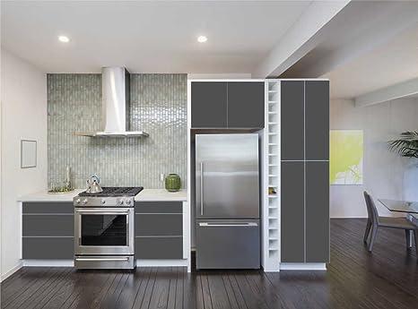 INDIGOS UG - Aufkleber für Küchenschränke 63x500cm - MATT - Folie aus  hochwertigem PVC Tapeten Küche Klebefolie Möbel wasserfest für Schränke ...