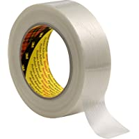 3M 7000035363 Scotch filamenttape, 8956, 50 mm x 50 m, transparant (set van 18 stuks), 0.13 mm, transparant, 18