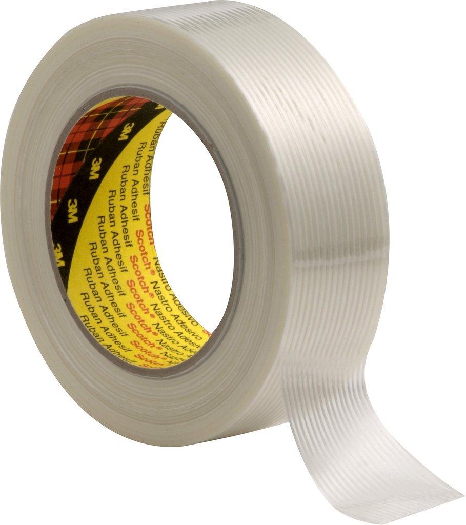 3M Tartan Filament-Klebeband Universal 8956, 50 mm x 50 m, Transparent (18-er Pack) 7000035363 3M-229918956
