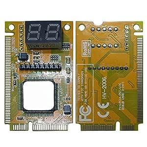 TOOGOO Tarjeta Ordenador portátil 2-Digit PC Mini PCI PCI-e LPC ...