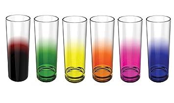 Stallion Barware Highball Glasses Rainbow   Set Of 6   Unbreakable  (Polycarbonate)   330