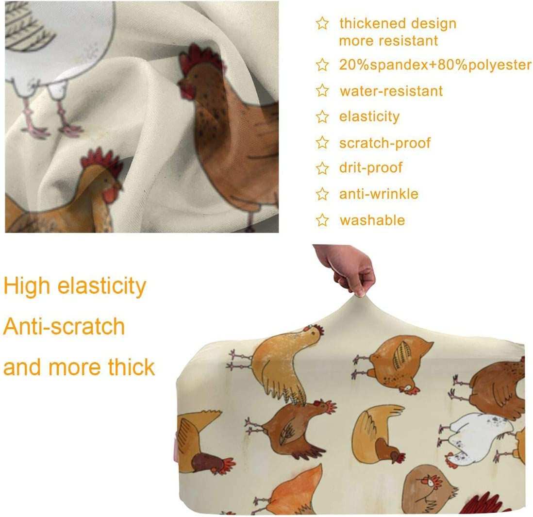 Chicken Travel Luggage Cover Suitcase Protector Washable Zipper Baggage Cover