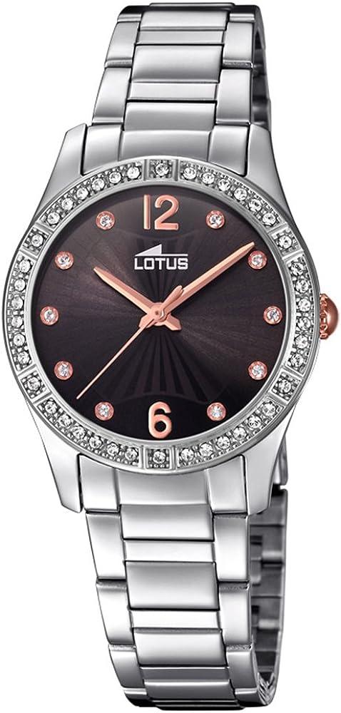 Lotus Reloj Mujer de Cuarzo analógico con Correa en Acero Inoxidable 18383/2