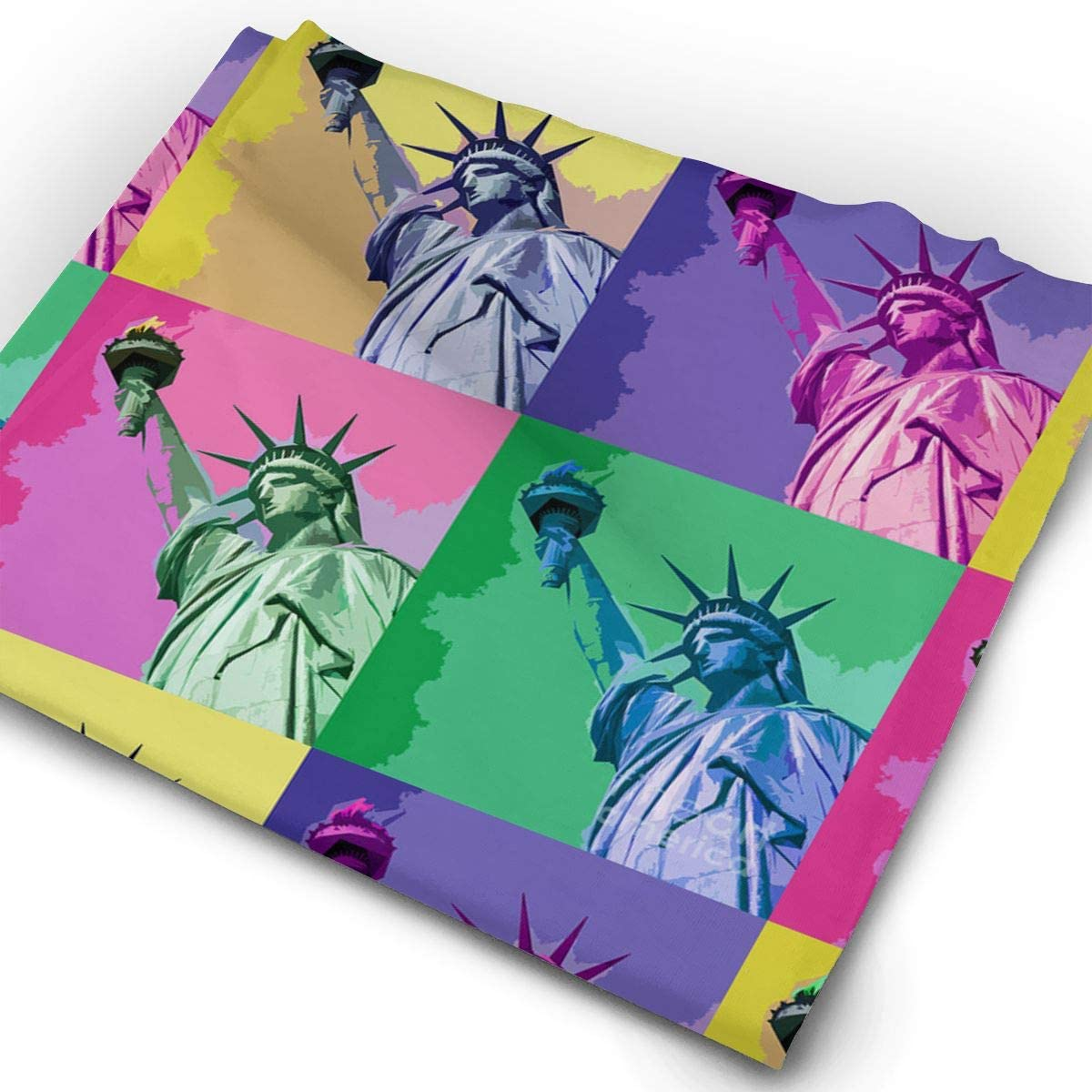 Mosaic Statue Liberty Art Unisex Fashion Quick-Drying Microfiber Headdress Outdoor Magic Scarf Neck Neck Scarf Hooded Scarf Super Soft Handle