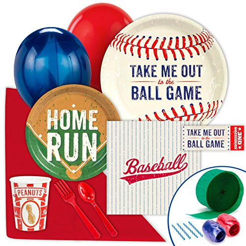 Baseball Time Party Supplies - Value Party Pack (Baseball Party Supplies)