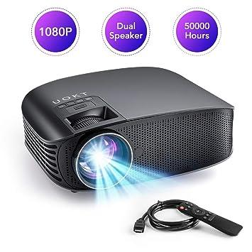 UOKT 2400 Lux Proyector portátil LED, Compatible con 1080P MAX 170 ...